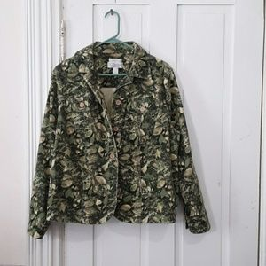 c.j. banks long sleeve button down jacket